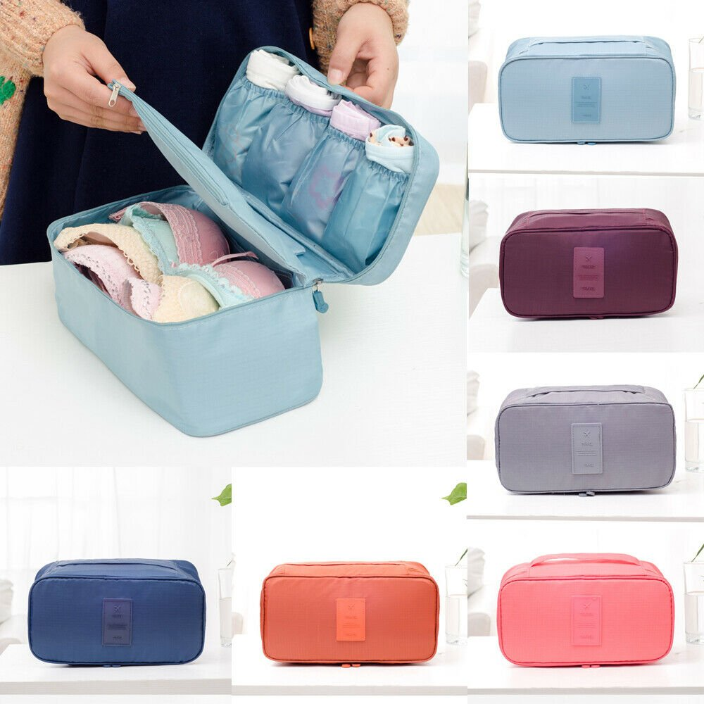 Women Travel Portable Storage Bag Box Protect Bra Socks Organizer Unde...