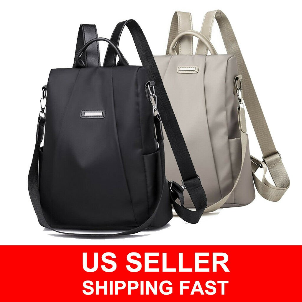 Women Waterproof Oxford Cloth Travel Backpack Nylon Anti-theft Shoulde...