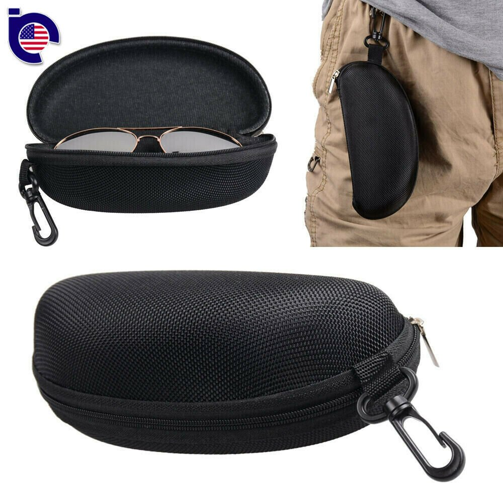 Zipper Hard Eye Glass Case Box Sunglass Protector Travel Fashion with ...