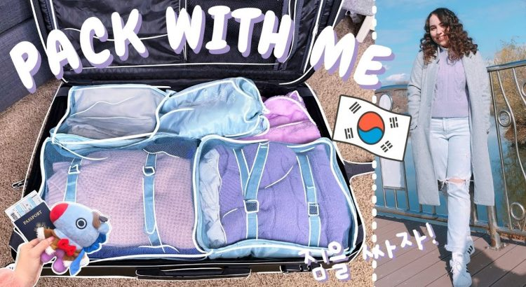 what i'm packing for fall/winter in KOREA  travel essentials &am...